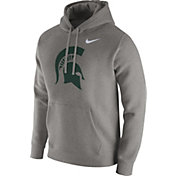 Nike Men's Michigan State Spartans Grey Club Fleece Hoodie