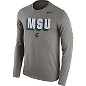 Nike Men's Michigan State Spartans Grey Dri-FIT Franchise Long Sleeve T-Shirt