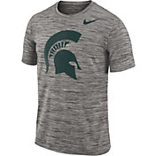 Nike Men's Michigan State Spartans Charcoal Football Dri-FIT Travel T-Shirt