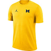 Jordan Men's Michigan Wolverines Maize Coach Football T-Shirt