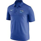 Nike Men's Memphis Tigers Blue Elite Football Sideline Polo