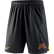 Nike Men's Minnesota Golden Gophers Knit Football Performance Black Shorts