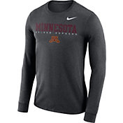 Nike Men's Minnesota Golden Gophers Grey Football Dri-FIT Facility Long Sleeve T-Shirt