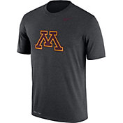 Nike Men's Minnesota Golden Gophers Grey Logo Dry Legend T-Shirt