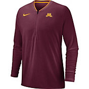 Nike Men's Minnesota Golden Gophers Maroon Coach Half-Zip Football Sideline Jacket