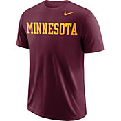 Nike Men's Minnesota Golden Gophers Maroon Wordmark T-Shirt