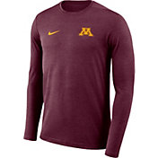 Nike Men's Minnesota Golden Gophers Maroon Football Dri-FIT Coach Long Sleeve T-Shirt