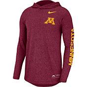 Nike Men's Minnesota Golden Gophers Maroon Marled Long Sleeve Hooded Sideline T-Shirt