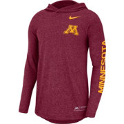 Nike Men's Minnesota Golden Gophers Maroon Marled Long Sleeve Hooded Sideline T-Shirt
