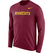 Nike Men's Minnesota Golden Gophers Maroon Dri-FIT Legend Long Sleeve Sideline T-Shirt