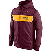 Nike Men's Minnesota Golden Gophers Maroon Therma-FIT Pullover Sideline Hoodie