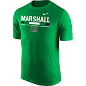 Nike Men's Marshall Thundering Herd Green Football Staff Legend T-Shirt