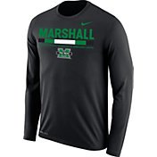 Nike Men's Marshall Thundering Herd Football Sideline Staff Legend Black Long Sleeve Shirt