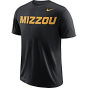 Nike Men's Missouri Tigers Wordmark Black T-Shirt