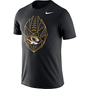 Nike Men's Missouri Tigers Black Dri-FIT Football Icon T-Shirt