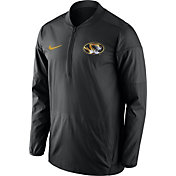 Nike Men's Missouri Tigers Lockdown Sideline Black Half-Zip Jacket