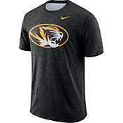 Nike Men's Missouri Tigers Black Dri-FIT Football Sideline Slub T-Shirt