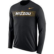 Nike Men's Missouri Tigers Dri-FIT Legend Long Sleeve Sideline Black T-Shirt