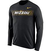 Nike Men's Missouri Tigers Dri-FIT Legend Long Sleeve Sideline Black T-Shirt