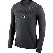 Nike Men's Missouri Tigers Grey Football Dri-FIT Facility Long Sleeve T-Shirt