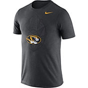 Nike Men's Missouri Tigers Grey Dri-FIT Football Icon T-Shirt