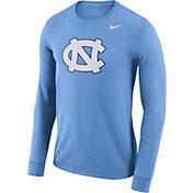 Nike Men's North Carolina Tar Heels Carolina Blue Dri-FIT Logo Long Sleeve Shirt