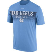 Nike Men's North Carolina Tar Heels Carolina Blue Dri-Fit Team Issue Performance Baseball T-Shirt
