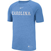 Nike Men's North Carolina Tar Heels Carolina Blue Raglan Sideline T-Shirt