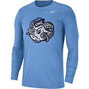 Nike Men's North Carolina Tar Heels Heathered Carolina Blue Vault Tri-Blend Long Sleeve Tee