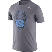 Jordan Men's North Carolina Tar Heels Grey Dri-FIT Football Icon T-Shirt