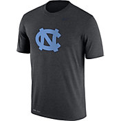 Nike Men's North Carolina Tar Heels Grey Logo Dry Legend T-Shirt