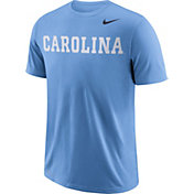 Nike Men's North Carolina Tar Heels Carolina Blue Wordmark T-Shirt