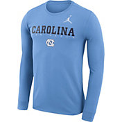 Jordan Men's North Carolina Tar Heels Carolina Blue Football Dri-FIT Facility Long Sleeve T-Shirt