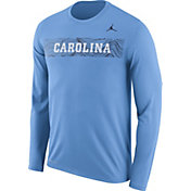 Jordan Men's North Carolina Tar Heels Carolina Blue Dri-FIT Legend Long Sleeve Sideline Tee