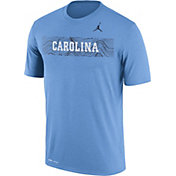Jordan Men's North Carolina Tar Heels Carolina Blue Football Sideline Legend T-Shirt