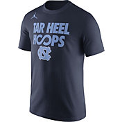 Jordan Men's North Carolina Tar Heels Navy 'Tar Heel Hoops' Basketball T-Shirt