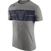 Nike Men's Villanova Wildcats Grey Logo Basketball T-Shirt
