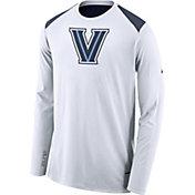 Nike Men's Villanova Wildcats Elite Shooter White Long Sleeve Shirt