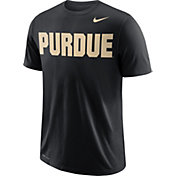 Nike Men's Purdue Boilermakers Wordmark Black T-Shirt