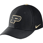 Nike Men's Purdue Boilermakers Black Aerobill Swoosh Flex Classic99 Hat