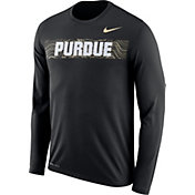 Nike Men's Purdue Boilermakers Dri-FIT Legend Long Sleeve Sideline Black T-Shirt