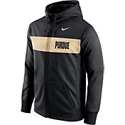 Nike Men's Purdue Boilermakers Black Therma-FIT Full-Zip Sideline Hoodie