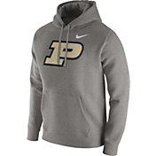 Nike Men's Purdue Boilermakers Grey Club Fleece Hoodie