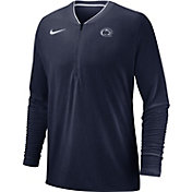 Nike Men's Penn State Nittany Lions Blue Coach Half-Zip Football Sideline Jacket