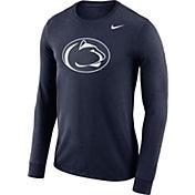 Nike Men's Penn State Nittany Lions Blue Dri-FIT Logo Long Sleeve Shirt