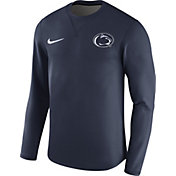 Nike Men's Penn State Nittany Lions Blue Modern Football Sideline Crew Long Sleeve Shirt