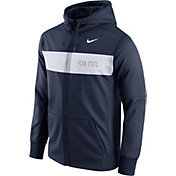 Nike Men's Penn State Nittany Lions Blue Therma-FIT Full-Zip Sideline Hoodie