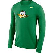 Nike Men's Oregon Ducks Green Dri-FIT Logo Long Sleeve Shirt