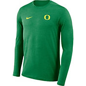 Nike Men's Oregon Ducks Green Football Dri-FIT Coach Long Sleeve T-Shirt