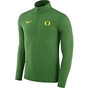 Nike Men's Oregon Ducks Apple Green Element Performance Quarter-Zip